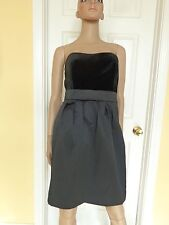 BANANA REPUBLIC black velvet party dress size 8 NEW $120 strapless LBD