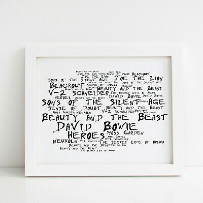 Heroes Available in a variety of sizes. David Bowie Lyrics Print