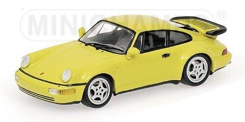 PORSCHE 911 Turbo 1990 giallo 1 43 MINICHAMPS 430069110