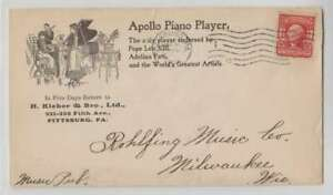 A6546-1904-Pittsburgh-Pa-Illustre-Piano-Housse