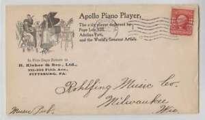A6546-1904-Pittsburgh-pa-Ilustraciones-Piano-Cubierta