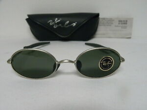3760a8149 New Vintage B&L Ray Ban Orbs 6 Base Oval Matte Silver W2389 Aviator ...