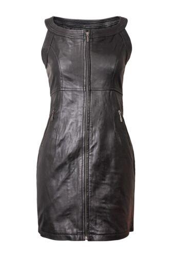 Taille Femme Soirée Noir 20 Véritable Sexy Robe Cuir 6 Femmes Neuf Iq48xwSZn