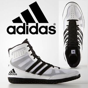 89e96057 Adidas Mat Wizard 3 White Black Wrestling Shoes Specialist Light ...