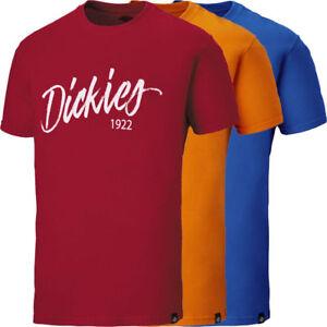 Dickies-1922-Range-Hanston-T-Shirt-Workwear-Graphic-Casual-Red-Orange-Blue-S-4XL