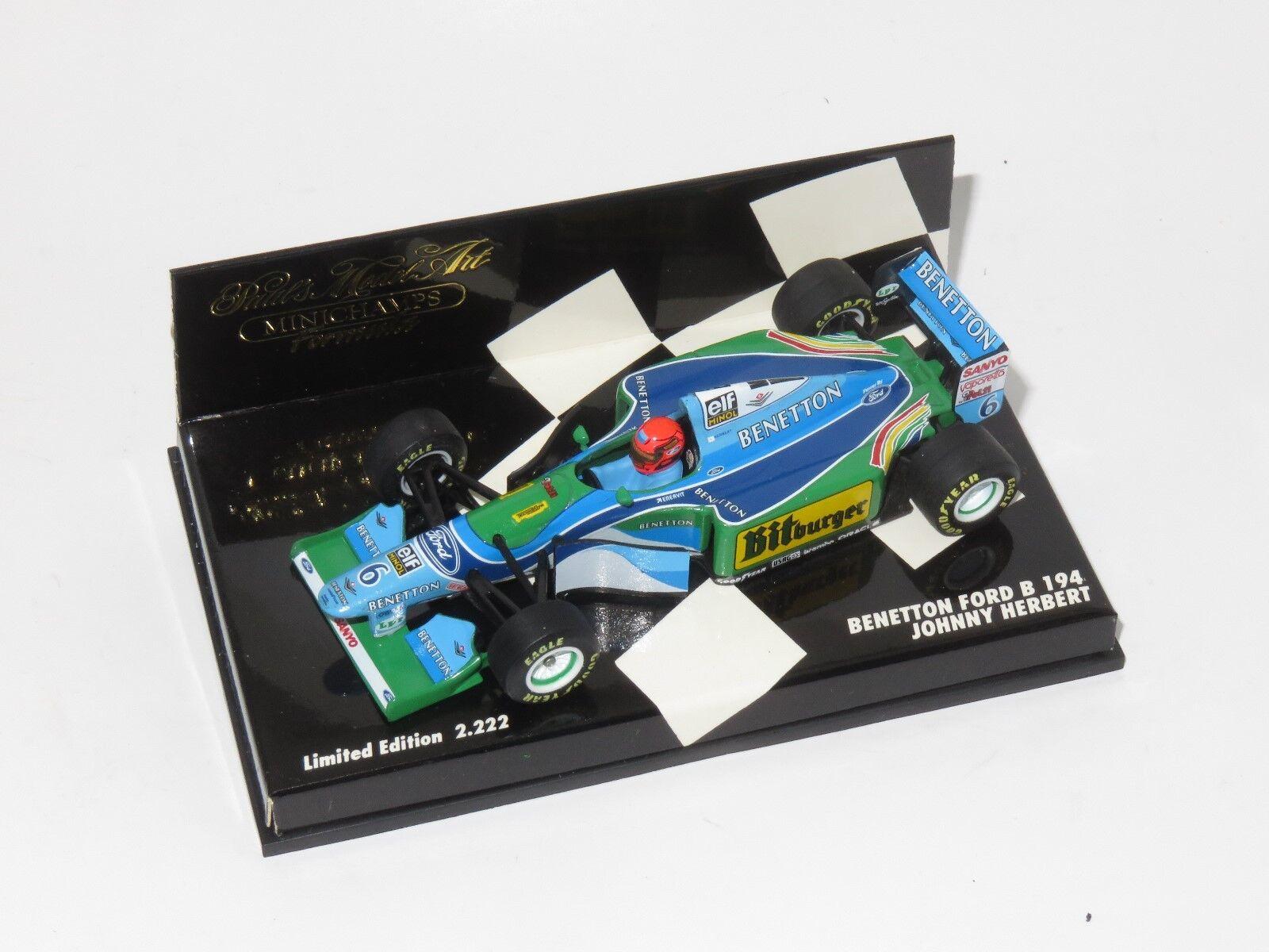 1 43 43 43 Benetton Ford B194 Bitburger   1994 Season   J.Herbert da1ec5