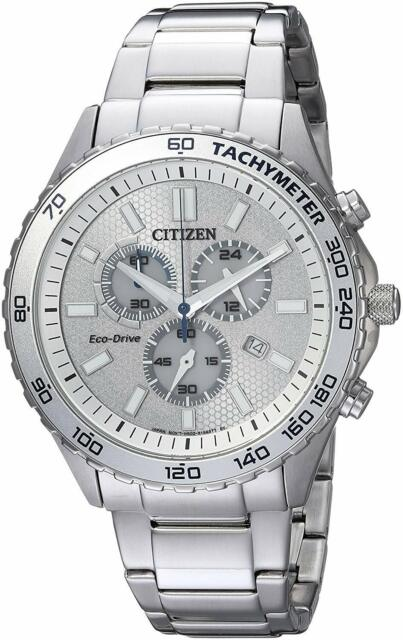 Citizen Eco-Drive Men's Chronograph Multi Dial Calendar 43mm Watch AT2129-58A