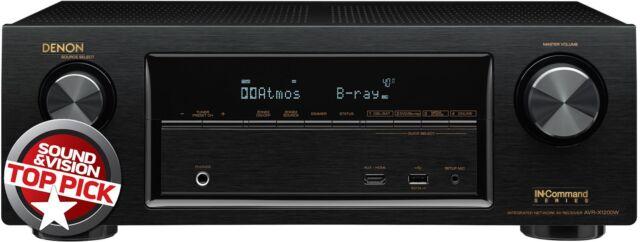 DENON AVR-X1200W 7.2 Atmos Full 4K Ultra HD A/V Receiver Bluetooth/Wi-Fi