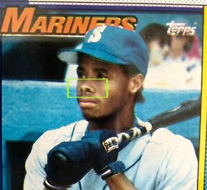 Topps-1990-Ken-Griffey-Jr-Color-Shift-Ink-Error-Blurry-Illusion-Double-Nose