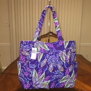 193e0746d2 NWT Vera Bradley Pleated Tote In Batik Leaves !!!New Pattern ...