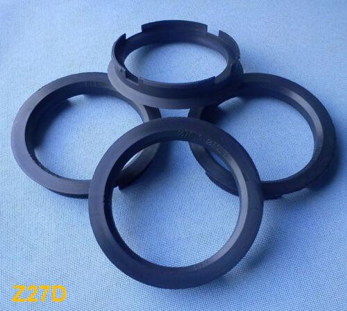 z27d 4x Bagues de centrage 76,9//65,1 mm Noir pour jantes alu