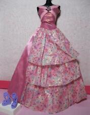 Mattel Barbie DOLL clothes-Happy Birthday party CONFETTI GOWN Long Pink DRESS