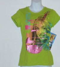 Disney Hannah Montana Short Sleeve Grahpic T-Shirt Green XL/16 NWT