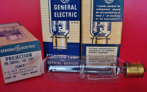 New Old Stock Projector Lamp Bulb General Electric GE CMT 300W 120V