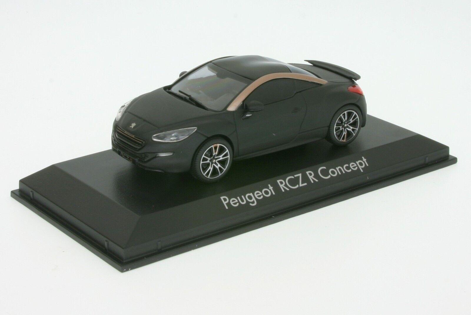 1 43 Peugeot RCZ R - Mattschwarz   Kupfer - Baujahr 2012 - Norev 473873  | Qualität