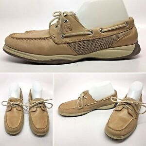 2c20dd786e SPERRY Top-Sider Womens Inrepid Leather Mesh Boat Shoes Slip On ...