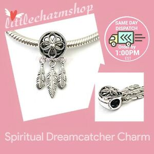 New-Authentic-Genuine-PANDORA-Silver-Spiritual-Dreamcatcher-Charm-797200
