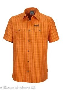 Jack Thompson Homme M S Chemise Wolfskin Gr Casual Orange pour qHxtfO5