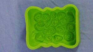 Seife-Giessform-NEU-Rosen-Silikonform-Leaf-Design-Backform-Kerzen-Giessformen-L