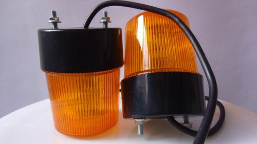 2x 12V//24V RECOVERY SAFETY SMD LED LIGHT BREAKDOWN ROTATING FLASHING BEACON LAMP