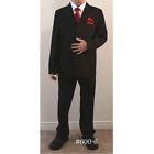 Boys 5 Piece Mat Black Suit - Formal Kids Wear / Dressy suit for children