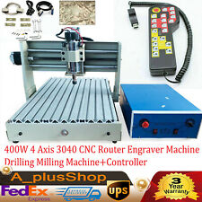 400w 4 Axis Engraver Machine 3040 Cnc Router Drilling Milling Machinecontroller