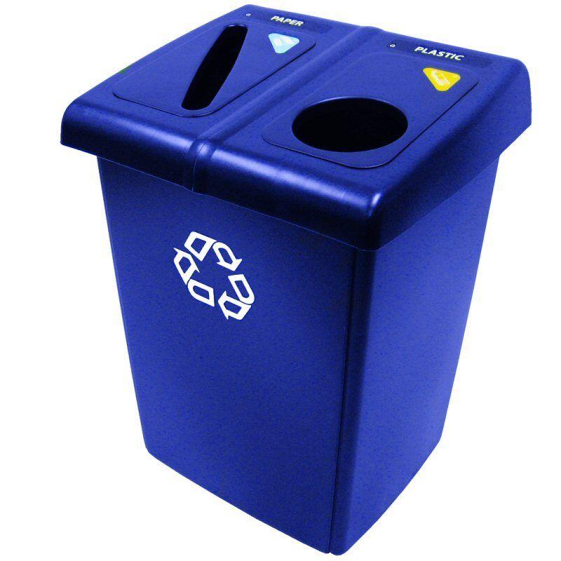174 Litre Recycling Bin Station Rubbermaid 2 Stream Blue 1792339