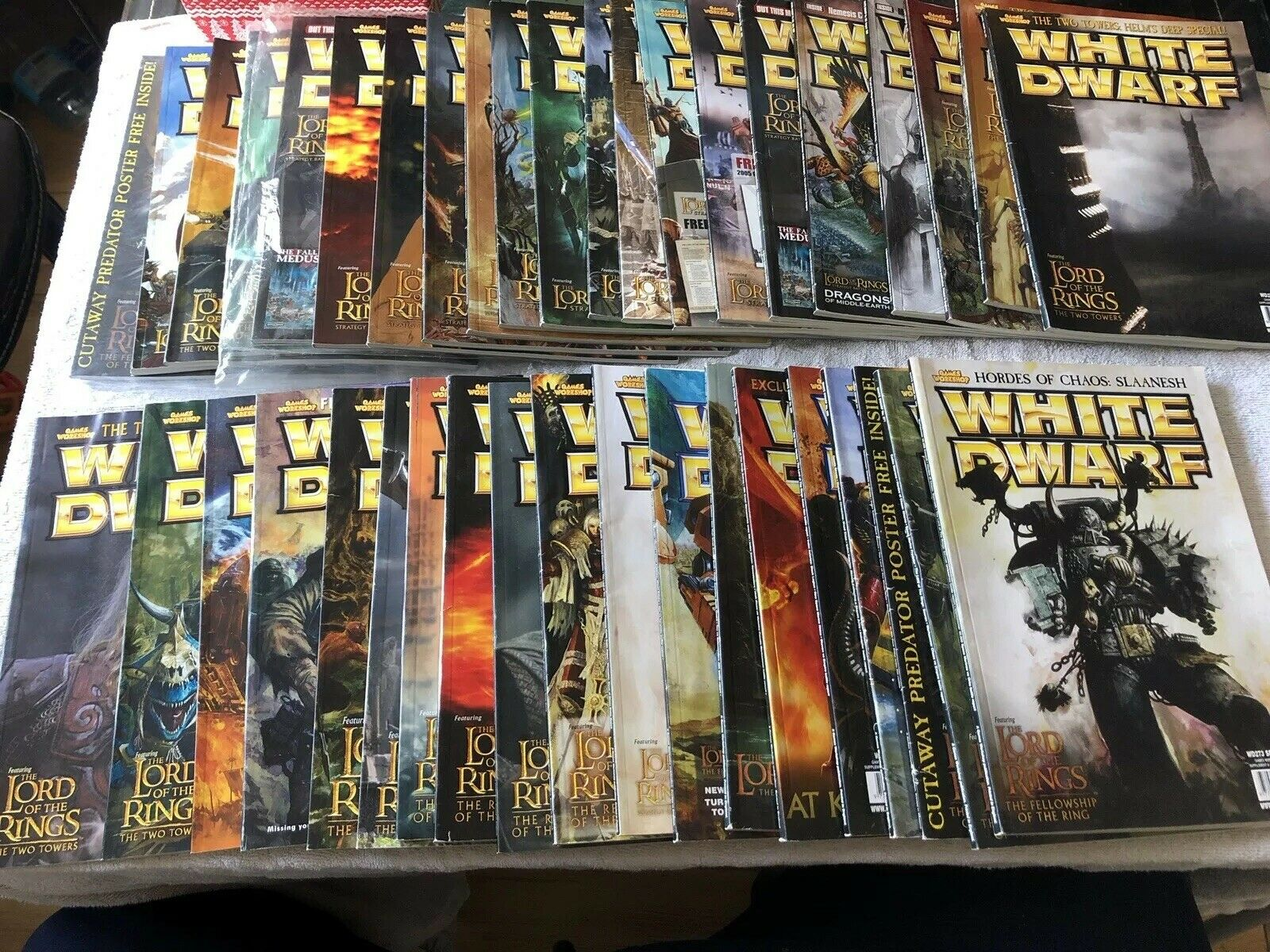 Games Workshop White Dwarf  Bundle Of 40 In Total Lord Of The Rings Only