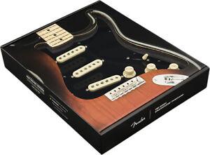 Genuine-Fender-Pre-Wired-Strat-Pickguard-Original-039-57-039-62-SSS-Black-11-Hole