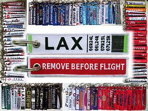 Keyring LAX Los Angeles Intl Airport Remove Before Flight tag keychain bag tag