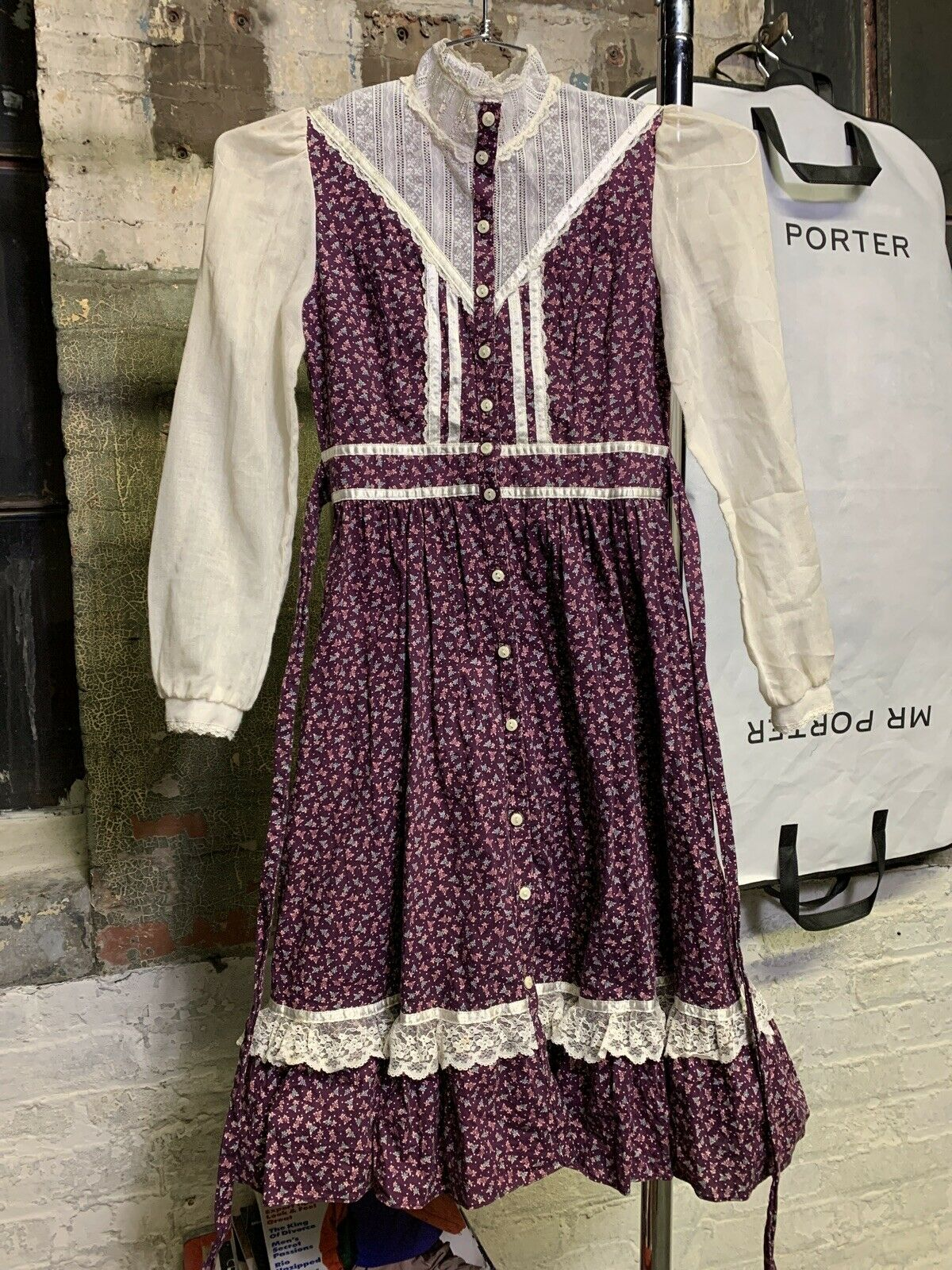 gunne sax 1970s women's vintage dress - image 1
