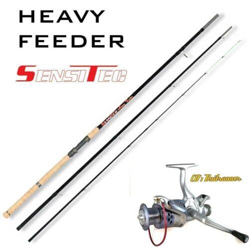 Heavy Feeder SET SENSITEC H-FEEDER 360cm bis 180g Baitrunner C01 Freilaufrolle