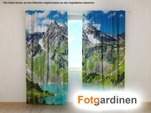 Vorhang Fotodruck fotogardinen berge vorhang 3d fotodruck foto vorhang