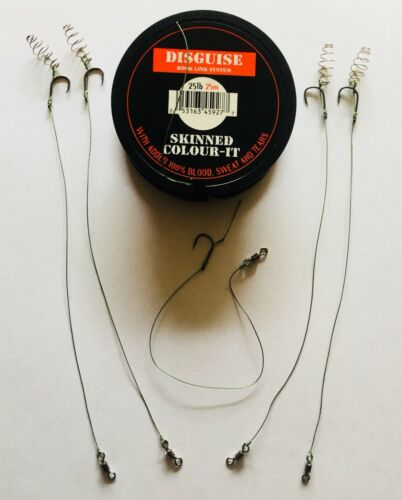 4 X TF GEAR MEAT COIL HAIR RIGS A FREE RIG!!