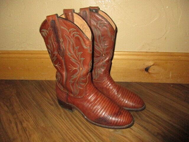 Vintage Larry Mahan Mahan Mahan el paso todo el cuero serpiente Occidental botas para mujer 7.5  compra limitada