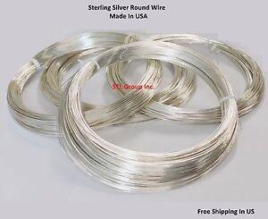 24 Ga Sterling Silver Round Wire (1 Oz = 48.60 Ft) Dead Soft - Half Hard Or Hard
