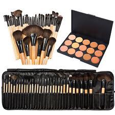 15 Colors Face Concealer Camouflage Cream Contour Palette 32Pcs Makeup Brush Set