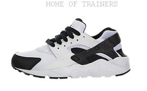 Nike Huarache Run White Black 654275103