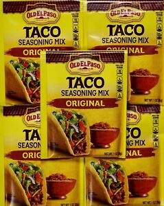 Old El Paso Taco Seasoning Mix Original Spice Packages 1 Ounce Ebay