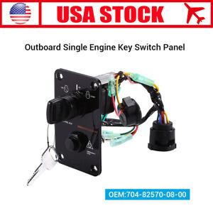 Single Key Switch Panel Assembly for Yamaha Outboard Yacht 704-82570-12-00 12V Automotive Ignition Key Switch Panel