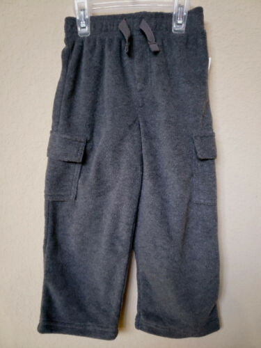 TODDLER BOY/'S FLEECE PANTS *NWT- GARANIMALS 12M w// 2 CARGO POCKETS 5T