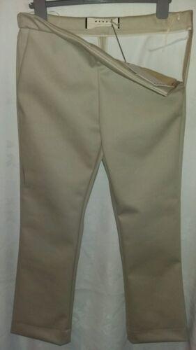 Bnwt Nero con £ 350 Italia per Rrp pantaloni pesanti Pantalone Uk12 cerniera Marni laterale wx1vqgnzFp