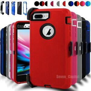 For iPhone 7/ 8 Plus Shockproof Hard Case Cover Belt Clip Fits Otterbox Defender