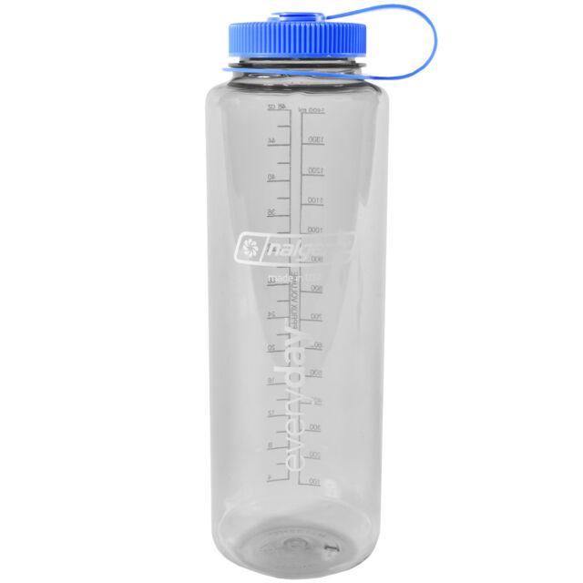 6a2afa6fb Nalgene Translucent Wide Mouth Bottle With Blue Lid for sale online ...