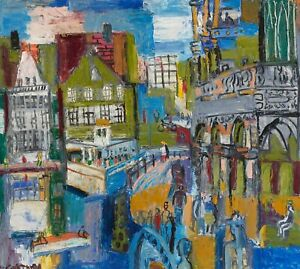 CITYSCAPE-by-SVETLANA-KOCHETKOVA-Original-Painting-oil-21x24-inches-RUSSIAN-cit