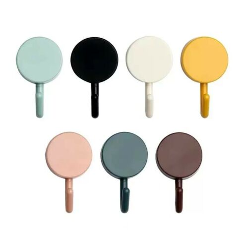10pcs Color Full Dot Wall Hooks Round Towel Rack Hat Hanger for Bath Kitchen DIY
