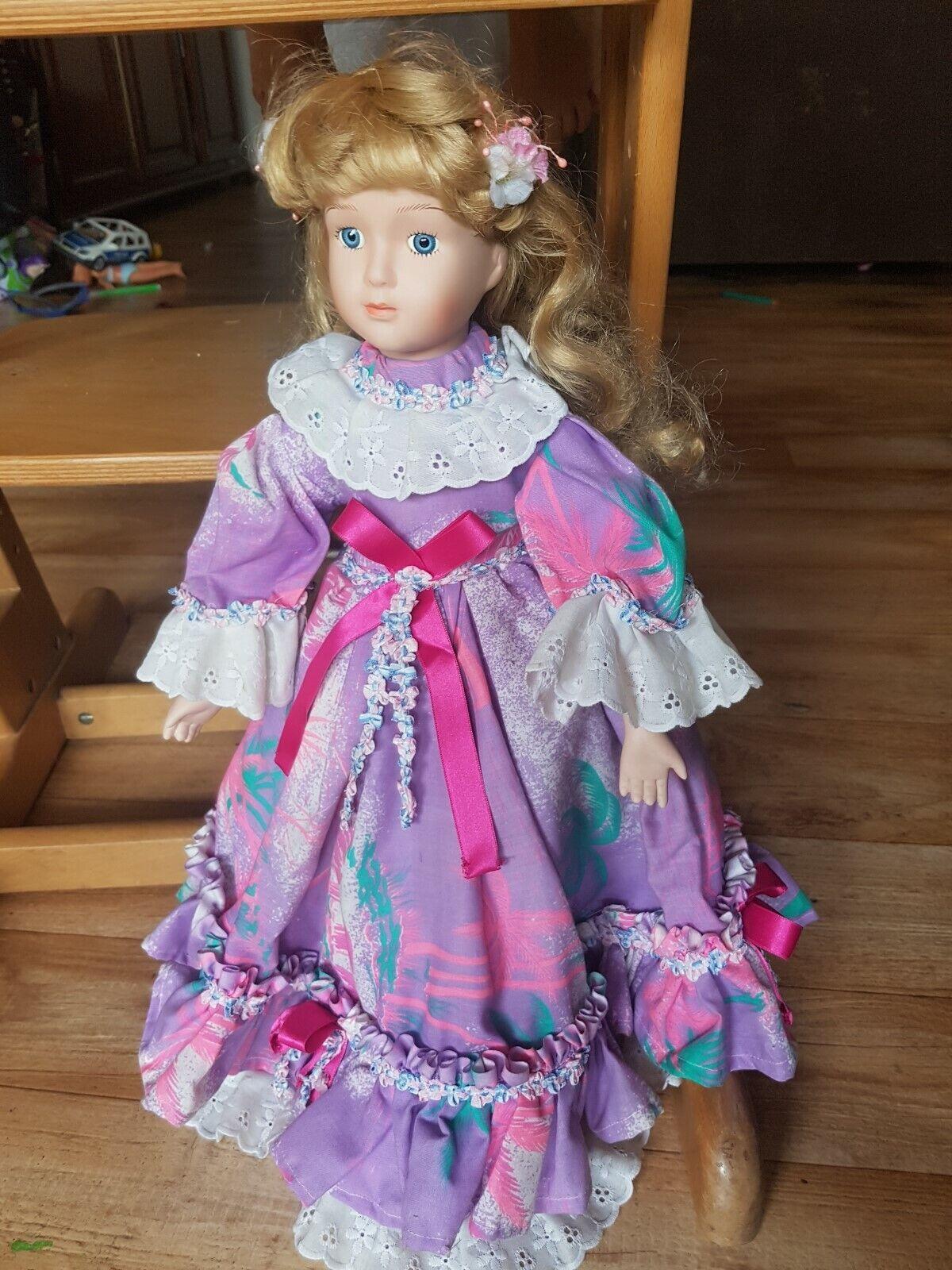 Rara y hermosa antiguos francés antiguo Vintage muñeca de moda 17 pulgadas