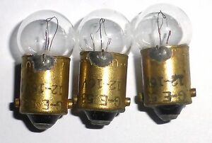 3-ampoules-a-baionnette-Ba9s-12-16-volts-GE53-50mA-US-ARMY-testees-100-OK