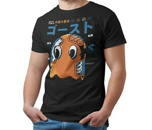 Pack-Man-Ghost-T-Shirt-Kaiju-Japanese-Monster-Unisex-Tee-Shirt-Adult-amp-Kids