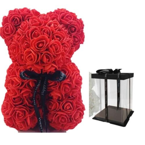 Mothers Best Souvenir Gifts 23cm 9inch Teddy Rose Bear with Box Home Decorative